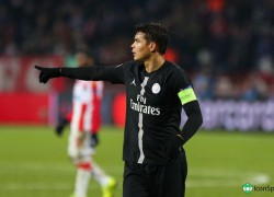Thiago Silva defende as cores do PSG desde 2012