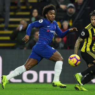 Willian soma cinco gols pelo Chelsea na temporada 2018/19