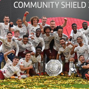 Com David Luiz titular, Arsenal conquista FA Community Shield