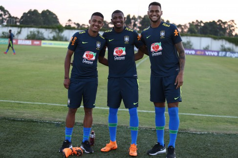 Emerson, Brenner e Junior Brumado