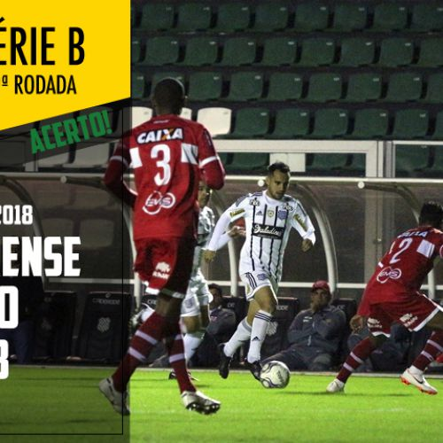 Figueirense x CRB - Acerto