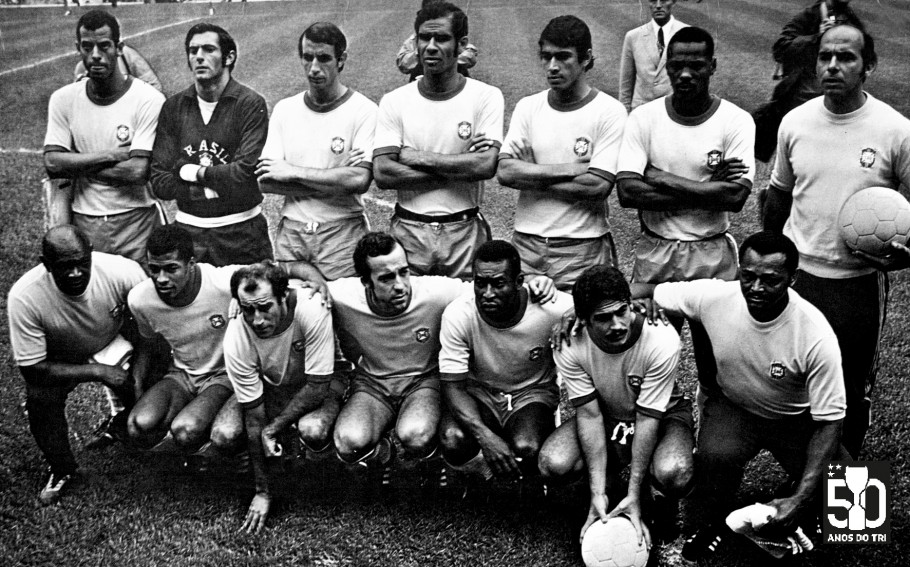 50 anos do Tri - Fotos da Copa do Mundo de 1970 com selo
