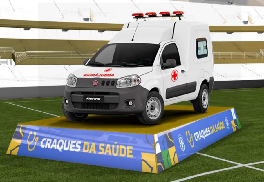 Fiat Fiorino ambulance is equipped with specific standard items for safe and fast transport of patients