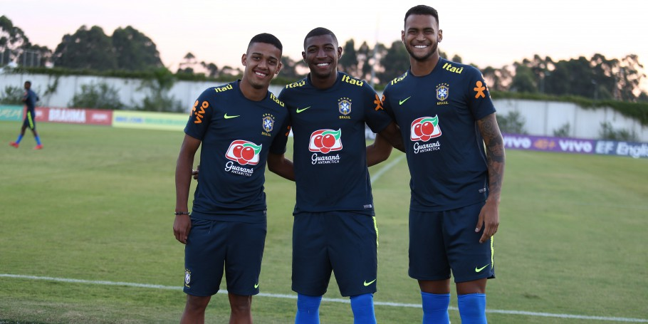 Brenner, Emerson e Junior Brumado